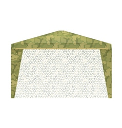 Military tent on a white background vector
