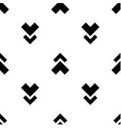 monochrome arrow pattern vector image