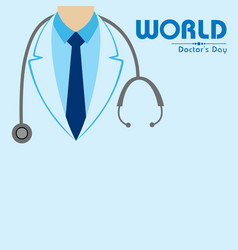 National doctors day stock image vector
