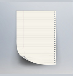 Notebook paper with torn edge vector