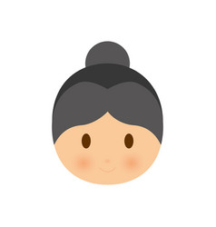 Old woman icon vector