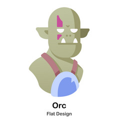 Orc flat icon vector