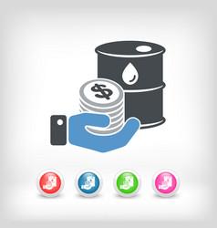 petroleum price icon vector image