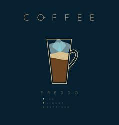 Poster coffee freddo vector