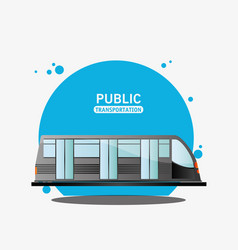 public transport electric train vector image