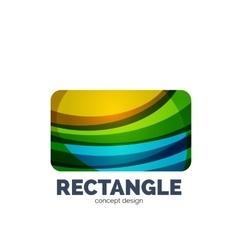 rectangle logo vector image
