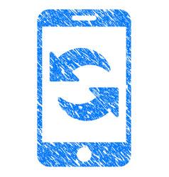 Refresh smartphone grunge icon vector