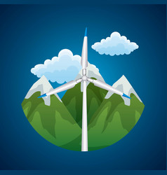 Renewable energy source wind turbine peak vector
