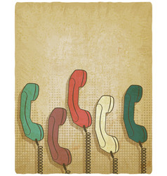 retro handset on vintage background vector image
