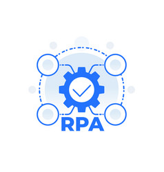 Rpa robotic process automation concept vector