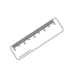 ruler math measuring icon image vector image