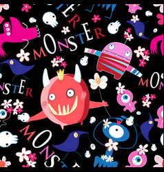 seamless bright funny halloween pattern of vector image