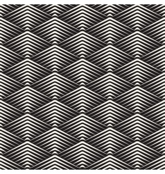 Seamless Rhombus Grid Lines Geometric vector image vector image