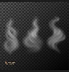 set of transparent smoke vector image