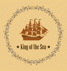 Sign of king of the sea vector
