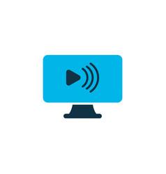 Social webinar icon colored symbol premium vector