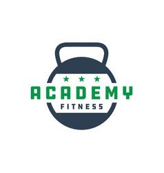 Sports fitness education logo vector