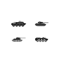tank icon set simple style vector image