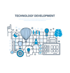 technology development start-up creative modern vector image