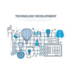 Technology development start-up creative modern vector