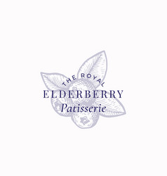 the royal elderberry patisserie abstract vector image