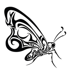 Tribal design butterfly vector