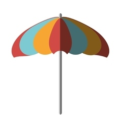 umbrella beach isolated icon vector image