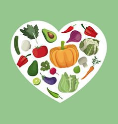 Vegetables organic fresh ingredients vector
