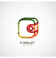 Wallet company logo business concept vector