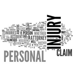 When you need a personal injury attorney text vector