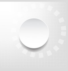 White and silver abstract technology background vector