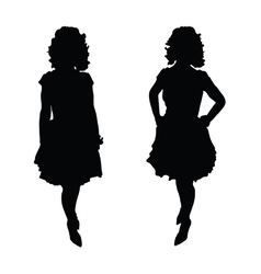 Woman pretty silhouette vector