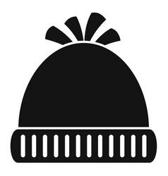 woolen winter hat icon simple style vector image