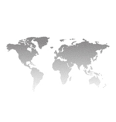 Black Dotted world map vector image vector image