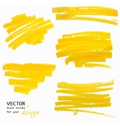 Hand-drawing orange textures of brush strokes vector image