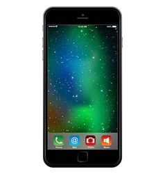 Photo realistic mobile phone in similar to iphone vector