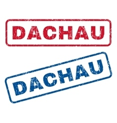 Dachau Rubber Stamps vector image vector image