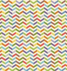 Full color seamless geometric pattern with zigzags vector image