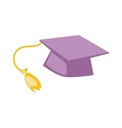 Graduation cap hat vector image