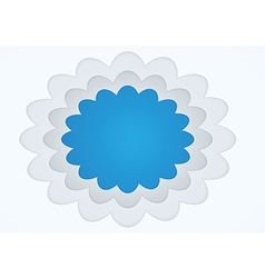 Picture frame cloud shape vector image vector image