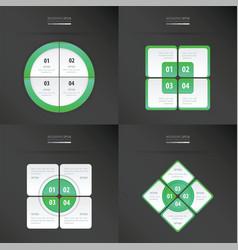 set of presentation template neon green color vector image vector image