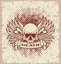 Symbol of the skull with teeth vector image