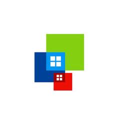 window square colored logo vector image vector image