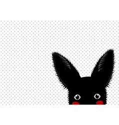 Black Rabbit Dots Background vector image vector image