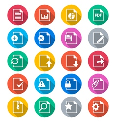 Document flat color icons vector image vector image