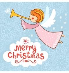 Greeting card Christmas card vector image vector image