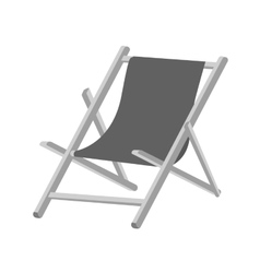 Isolated beach chair design vector image