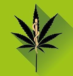 Medical marihuana new logo vector image