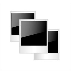 Polaroid photo frames isolated on white background vector image vector image