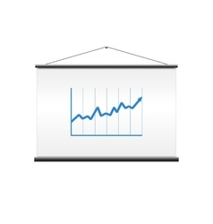 Projector screen with graph vector image